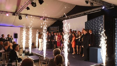 The winners on stage at the Essex Police Awards. Picture: ESSEX POLICE