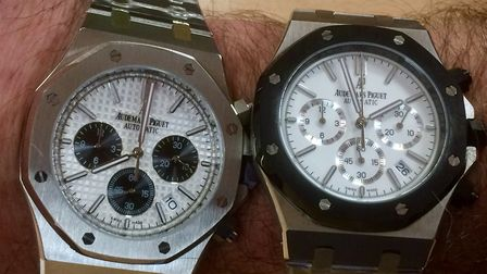 Audemars watches which were seized by Border Force officers at Felixstowe. Picture: BORDER FORCE
