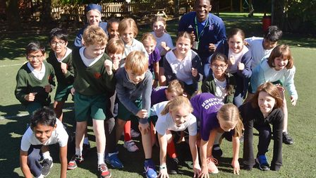 Tito Nsiala and the children of St Margaret's ready themselves Picture: SONYA DUNCAN