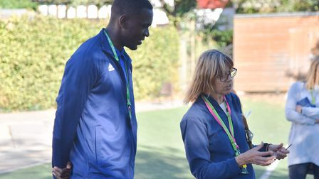 Tito Nsiala stands with his new manager Sandra Bigley Picture: SONYA DUNCAN