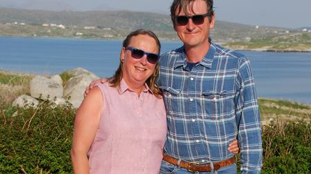 Susie McKeever with brother Nick Picture: SUPPLIED BY THE BRAIN TUMOUR CHARITY
