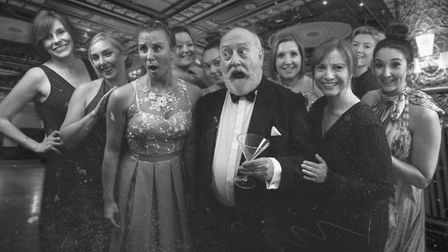 Uncle Willie (Mel Barnes) is a hit with the ladies in Bury AODS production of High Society Photo: Jo