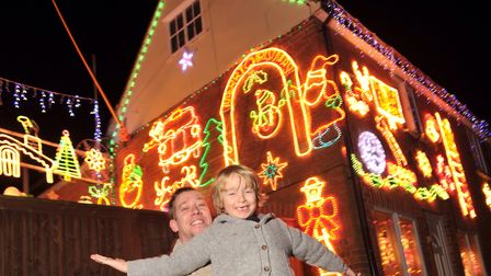Kieron Ruddy and his son Jayden Ruddy at their charity Christmas lights in 2016 Picture: SARAH LUCY