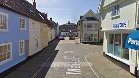 The incident happened in Saxmundham market place Picture: GOOGLE MAPS