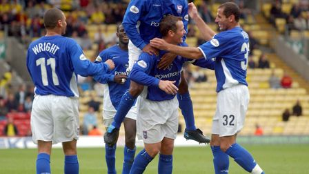Jim Magilton was also among the scorers as Town beat Watford 2-1 at Vicarage Road in 2003