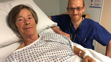 Teresa was the first person at Ipswich Hospital to receive the treatment Picture: EAST SUFFOLK NORTH