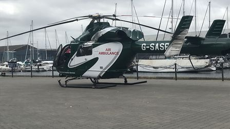 Air ambulance lands at Ipswich Waterfront Picture: ARCHANT