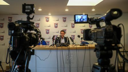 Paul Hurst will speak to the media this afternoon. Picture: Steve Waller www.stephenwaller.com