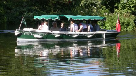 An electric boat on the River Stour Picture: RIVER STOUR TRUST