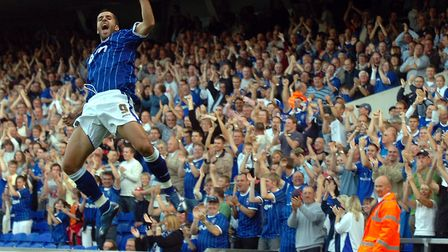 Pablo Counago celebrates scoring against Coventry in 2007. Picture: ARCHANT