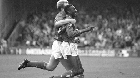 Chris Kiwomya was among the scorers for Town as they beat Bristol Rovers 2-1 at Portman Road in 1990