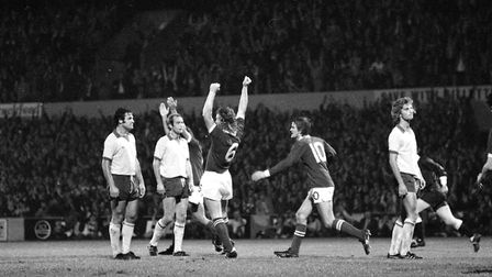 Kevin Beattie and Bryan Hamilton scored for Town in the Blues 2-0 win over Norwich
