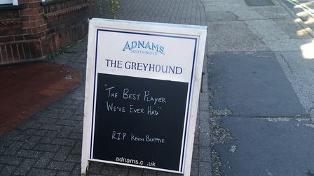 Kevin Beattie tribute at the Greyhound Pub Picture: ARCHANT