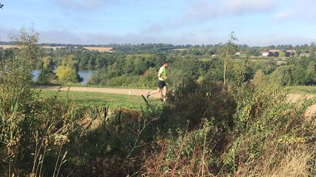 A lonely runner enjoys the two-lap Westmill parkrun course, which is small on numbers but big on vie