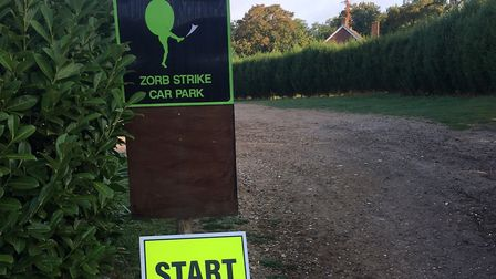The low-key start area for the Westmill parkrun, which staged its 60th event last Saturday. Picture: