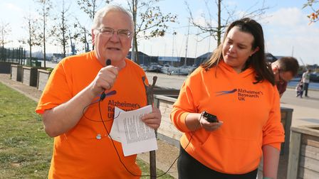 Roger Fern at the last Defeat Dementia Walk Picture GARY DONNISON