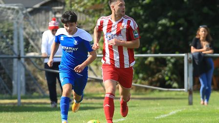 Jack Ainsley. Worked hard for Felixstowe but hits the post two games running Photo: STAN BASTON