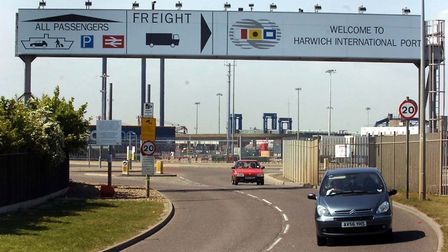 The entrance to Harwich International Port Picture: ANDREW PARTRIDGE