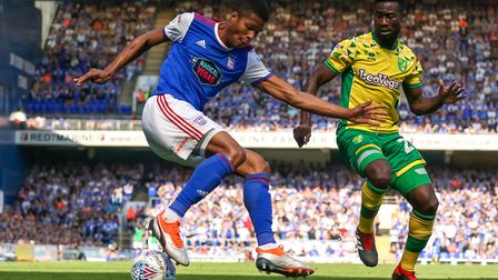 Jordan Spence has started four games for Ipswich Town this season. Photo: Steve Waller