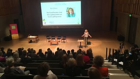 Author Bee Wilson addresses delegates at the Aldeburgh Food and Drink Festival Conference Picture: S