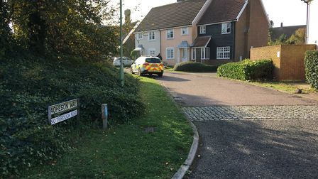 Acheson Way in Aldeburgh, where police are investigaring an unexplained death Picture: ANDREW HIRST