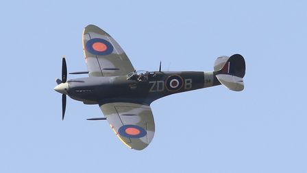 Did you see a spitfire over Ipswich today? Picture: JOHN YAXLEY