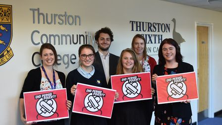 Alex Mayer MEP spoke to students at Thurston Community College last week about period poverty. From