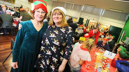 Amanda Bloomfield (right), CEO of the Gatehouse charity, which runs a foodbank in Bury St Edmunds. S