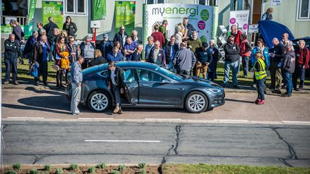 Visitors had a change to drive a range of different electric vehicles Pic: DSC Photography