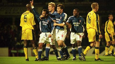 Micky Stockwell scored on this day in 1999 when Town beat Charlton 4-2 at Portman Road