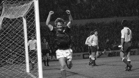 Eric Gates scored on this day in 1977 in Town's win over Las Palmas