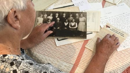 Mrs Spall found the letter in an old box Picture: NEIL DIDSBURY