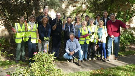 Members from Bury Abbey Rotary Club, their twin club from the Netherlands and the Abbey Gardens Frie