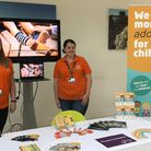 Emma Whitton (left) and Jade Cuckow with the Suffolk Fostering and Adoption stand Picture: SUFFOLK C