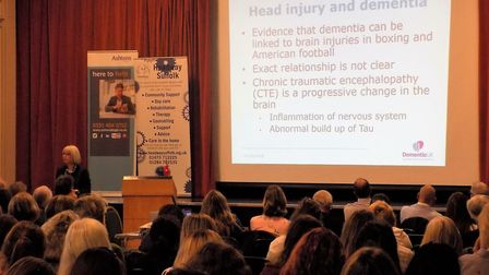 There were six expert speakers at the Headway Suffolk Neuro Conference 2018 at Kesgrave near Ipswich