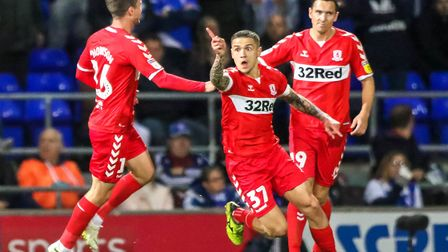 Muhamed Besic celebrates scoring for Middlesbrough at Portman Road. Ipswich lost 2-0 last time out a