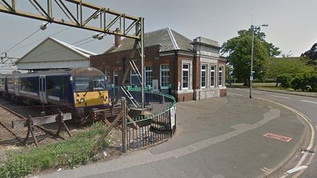 Emergency services were called to Clacton Railway Station today after a car crashed into a set of ba