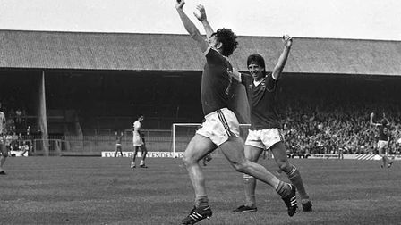 38 years ago, John Wark scored twice in Town's 2-0 win over Coventry City Picture: OWEN HINES