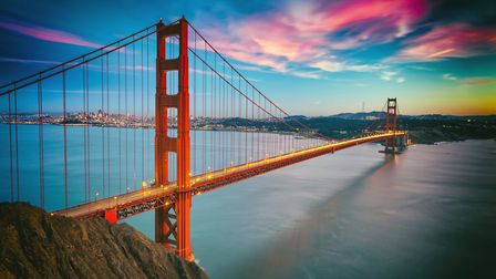 San Francisco from San Francisco Headlands and Golden Gate bridge Picture: GETTY IMAGES/ISTOCK PHOTO