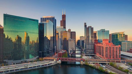 Chicago downtown at sunrise Picture: GETTY IMAGES/ ISTOCKPHOTO/ RUDA BALASKO