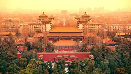 Aerial view of Beijing with historical architecture. Picture: GETTY IMAGES/ISTOCKPHOTO