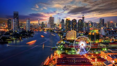 Bangkok cityscape. Bangkok night view in the business district at twilight Picture: GETTY IMAGES/IST