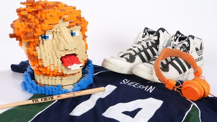 The items belonging to Ed Sheeran which are due to be auctioned Picture: BISHOP & MILLER