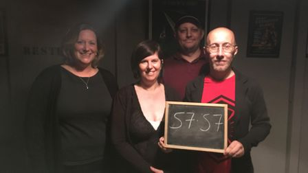 We made it out of the Suffolk Escape Room... just. Picture: JENNI ARMSTRONG