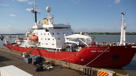 The RSS James Clark Ross ship in Harwich. Picture: Hutchison Ports