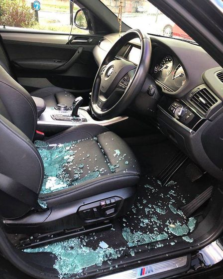 The window was smashed and a small quantity of money taken from the Vehicle Picture:AGNES KENJI