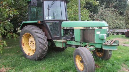 A vintage John Deere tractor at the Blackmore family sale near Haverhill Picture: PETER CRICHTON