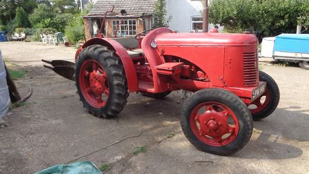 A vintage tractor at the Blackmore family sale near Haverhill Picture: PETER CRICHTON