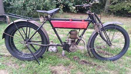 A vintage moped at the Blackmore family sale near Haverhill Picture: PETER CRICHTON