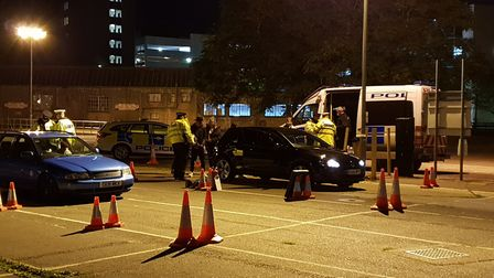 A vehicle was seized in the operation Picture: ADAM HOWLETT